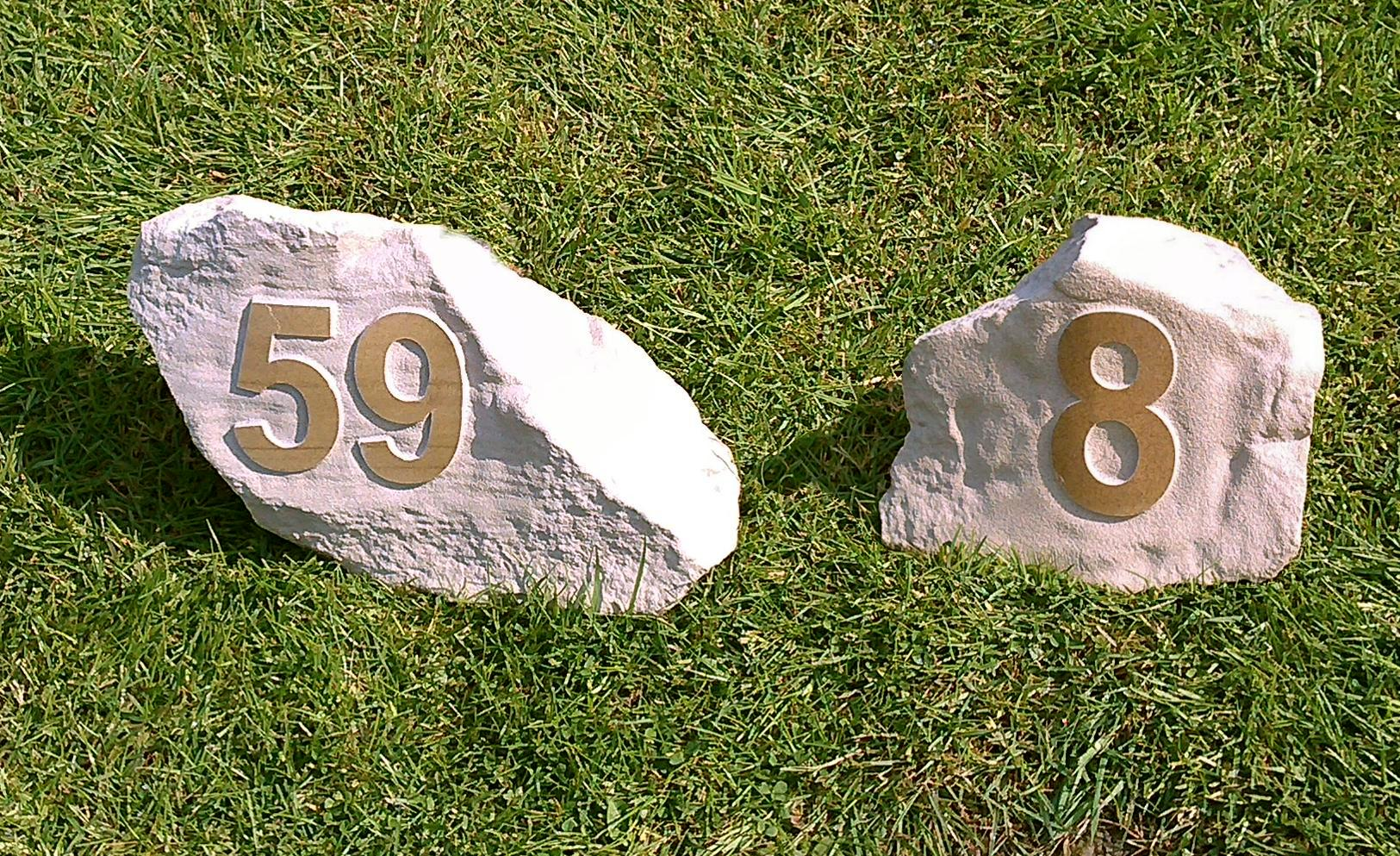 Yorkstone House Sign Boulders By Bouldercraft Uk